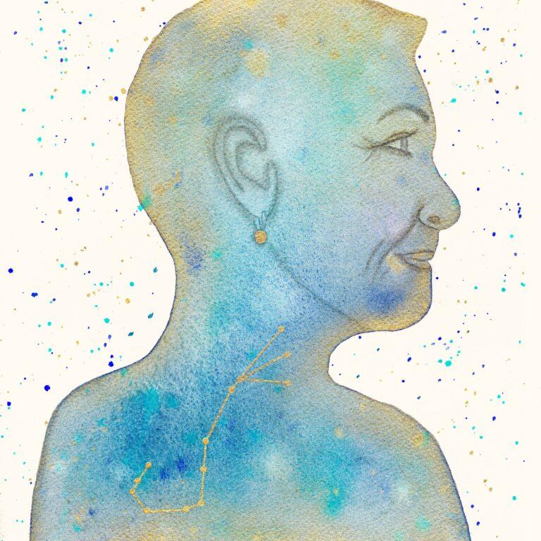 Aquarel portret Anja