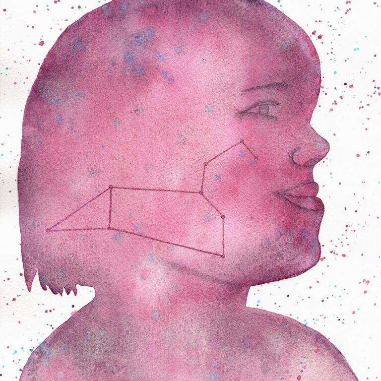 Aquarel portret Astrid