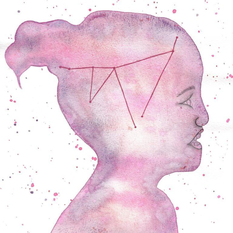 Aquarel portret Fleur