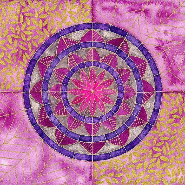 Mandala paars goud